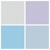 stock photo of violets  - Blue background vector set - JPG