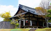 traditional wooden house, Japan at day