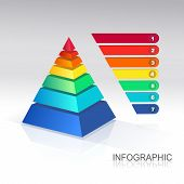 Pyramid infographic  colorful  .