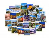 Stack of Norway travel shots - nature and travel background (my photos)