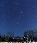 Starry Sky Over A Country House