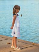 Child on the shore