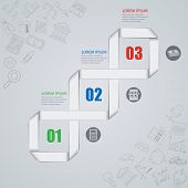 Vector illustration of abstract images infographics on the economy