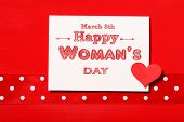 Happy Womans Day With Red Heart