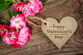 Happy Valentine's Day Heart Shaped Card