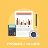 stock photo of statements  - Vector illustration of financial statement flat design concept - JPG