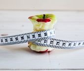 Apple Stump And Measuring Tape