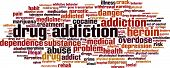 picture of drug addict  - Drug addiction word cloud concept - JPG