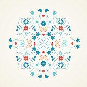 Multi-coloured Symmetrical Design
