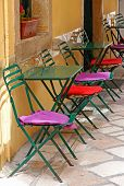 Greece. Corfu Island. Corfu Town. An Open-air Cafe