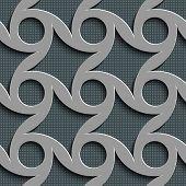 Seamless Rhombus and Circle Pattern. Vector Gray Regular Texture