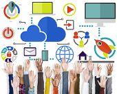 Volunteer Support Big Data Online Global Communication Concept