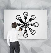 Businessman Drawing Clock
