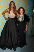 LOS ANGELES - JAN 11:  Beverly Johnson, Nikki Haskell at the HBO Post Golden Globe Party at a Circa 55, Beverly Hilton Hotel on January 11, 2015 in Beverly Hills, CA