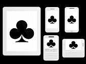 Mobile Devices With Poker Clubs White