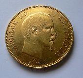100 F gold coin Napoleon III