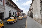 Taxis In Arequipa, Peru