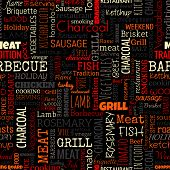 BBQ word seamless pattern