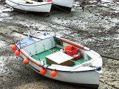 Penzance Solitary Fishing Boat High  Dry