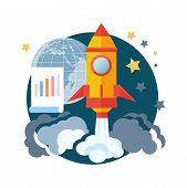 Постер, плакат: Start Up Rocket