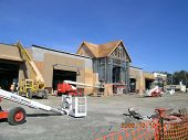 foto of burlington  - new shopping center erected in burlington washington state usa - JPG