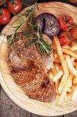 picture of rib eye steak  - Beef rib - JPG