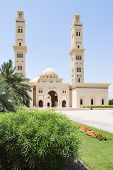 foto of oman  - Picture of a mosque with blue sky in Oman - JPG