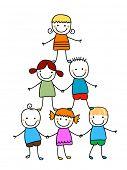 picture of animated cartoon  - kids team - JPG