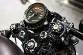 pic of speedometer  - The motorcycle of classic speedometer close up - JPG