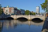 Most Famous Bridge In Ireland,o'connell Bridge,dublin City Centre