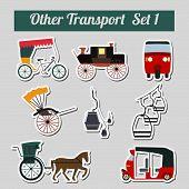 picture of rickshaw  - Set of ground transportation - JPG