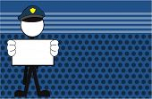pic of police  - police man pictogram cartoon background in vector format very easy to edit - JPG