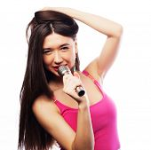 pic of singer  - Beauty glamour singer girl portrait - JPG