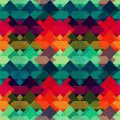 stock photo of swastika  - grunge mosaic seamless pattern  - JPG