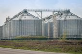 image of silos  - silos for agricultural goods in a warehouse - JPG
