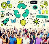 pic of reuse recycle  - Recycle Reduce Reuse Eco Friendly Natural Saving Go Green Concept - JPG