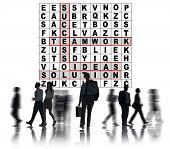 pic of scrabble  - Success Crossword Puzzle Words Achievement Game Concept - JPG