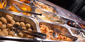 stock photo of buffet  - tasty food in the buffet Chinese restaurant - JPG