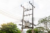 pic of substation  - Electric transformer substation in south of Thailand - JPG