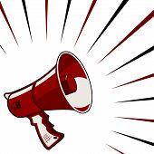 Anúncio de megafone