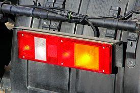 picture of truck-stop  - Stop light of big truck taken closeup - JPG